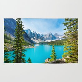 Lake Moraine, Alberta, Canada Rug