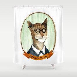 Sigmund Feline Shower Curtain