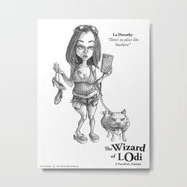 La Dorothy Sketch Metal Print