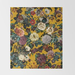 Exotic Garden V Throw Blanket