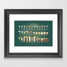 36 Cocktails Framed Art Print