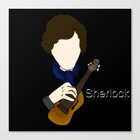 superwholock Canvas Prints featuring Sherlock Violin by Carryon_Waywardsun