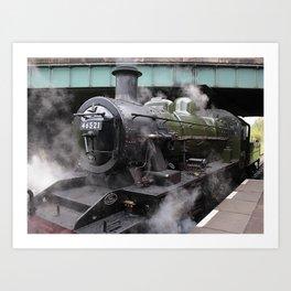 Vintage Steam Engine Art Print