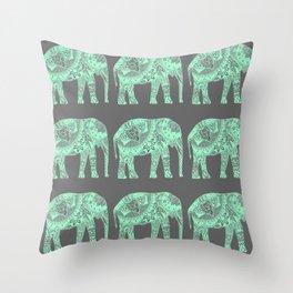 Elephants I Throw Pillow