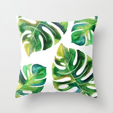 Wildness In Monstera Throw Pillow