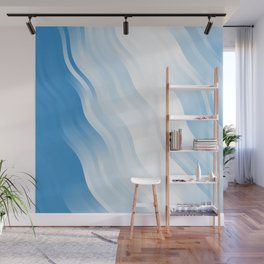 wavy lines pattern wb Wall Mural