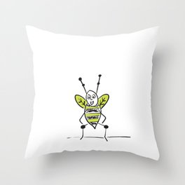 Bees Knees Idiom Throw Pillow