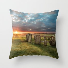 Drombeg Stone Circle Throw Pillow