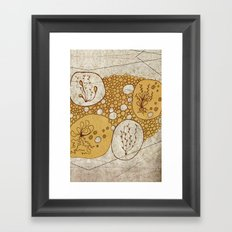 Plants & Pebbles Framed Art Print