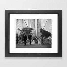 Old Time Godzilla vs. King Kong Framed Art Print