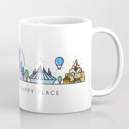 Meet me at my Happy Place Theme Park Skyline Coffee Mug