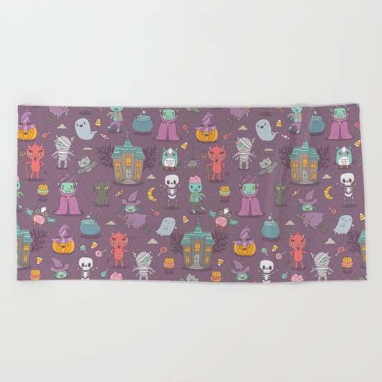 Happy Halloween Beach Towel