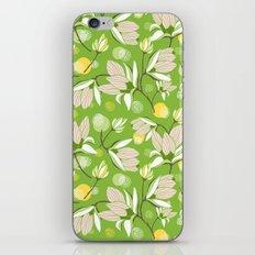 Magnolia Blossom Greenery iPhone & iPod Skin