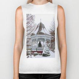 Courthouse Gazebo in the Snow Biker Tank