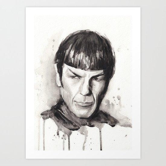 Spock Star Trek Art Print