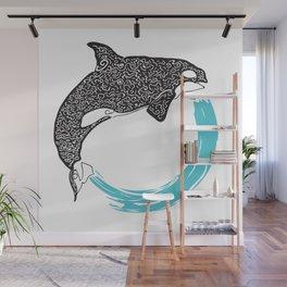 Orca Circle Wall Mural