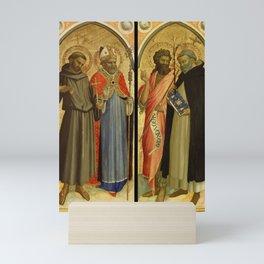 Fra Angelico - Saint Francis and a Bishop Saint, Saint John the Baptist and Saint Dominic Mini Art Print