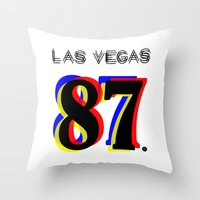 las vegas Throw Pillows featuring Las Vegas by Joe Alexander