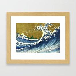 Hokusai - Big Wave, from 100 Views of Mount Fuji, 1832 Framed Art Print
