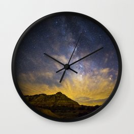 Fiery Night in Palo Duro Canyon Wall Clock