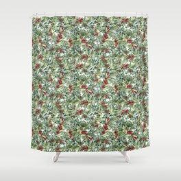 Elegant Christmas Shower Curtain