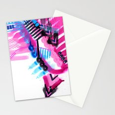 Blue, Pink and Black Stationery Cards