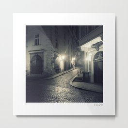 Prague Cobble Alley Metal Print