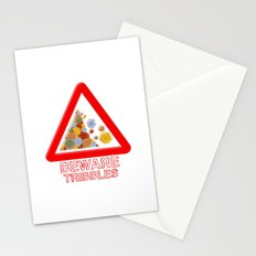 Warning tribbles Stationery Cards