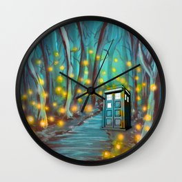 Tardis in the Glow Wall Clock
