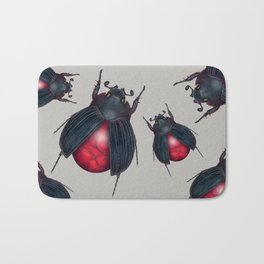 Red Jasper Beetle Bath Mat