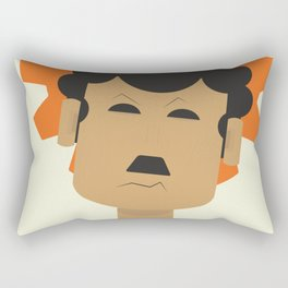 Charlie Chaplin, Modern Times, minimal movie poster, classic film, Charlot, Hollywood Rectangular Pillow