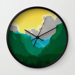 Wilkinson Mountain Pass Wall Clock