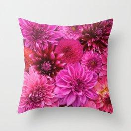 Dahlia Extravaganza Throw Pillow