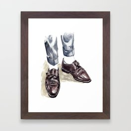 Vintage Monk Strap Fashion Illustration Framed Art Print