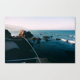 Cliff Camping Canvas Print