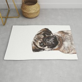 The Melancholy Pug Rug