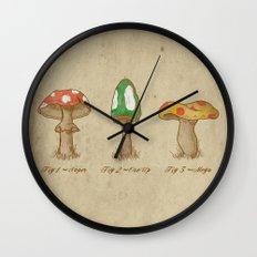 Mario Mycology Wall Clock