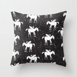 Pegasus Block Print Throw Pillow