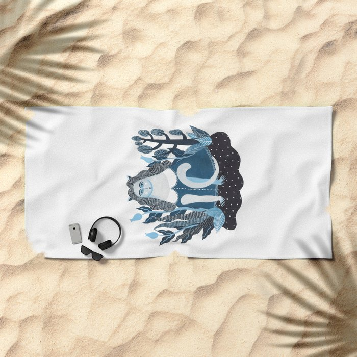 We are cats inside Beach Towel
