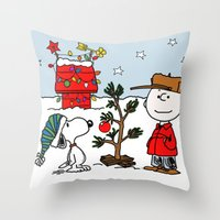 snoopy Throw Pillows featuring Snoopy 01 by tanduksapi