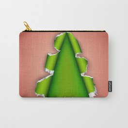 Christmas tree made of torn paper Carry-All Pouch