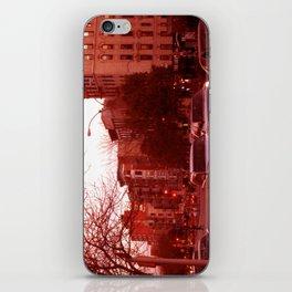 NYC Houston Street at Dusk - Red Haze iPhone Skin