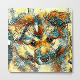 AnimalArt_Dog_20170905_by_JAMColorsSpecial Metal Print
