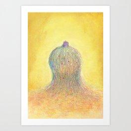 Home on Pastel Hill Art Print