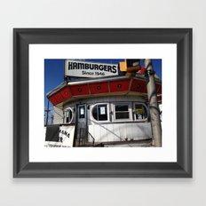 burger joint nj Framed Art Print