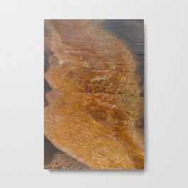 Hot Spring Abstraction Metal Print