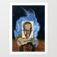 allyson johnson Art Prints featuring Robert Johnson by C.M. Duffy