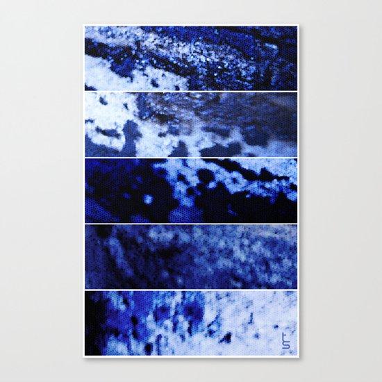 Blue Magnification (Five Panels Series) Canvas Print