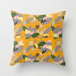 Floral and thorn pattern Throw Pillow