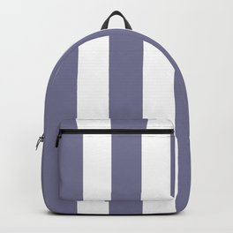 Rhythm grey - solid color - white vertical lines pattern Backpack